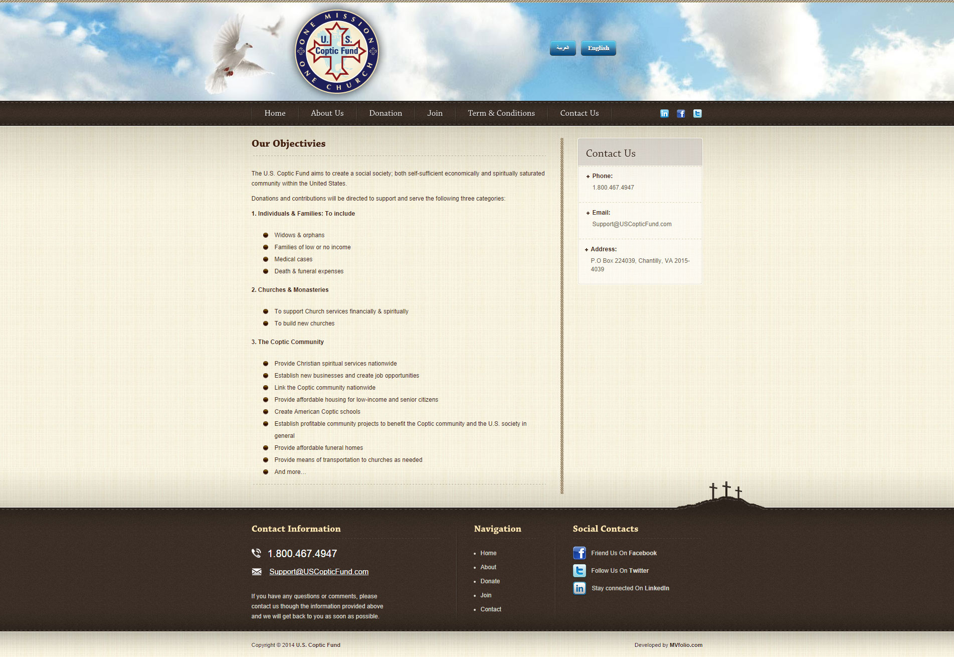 US Coptic Fund About Page