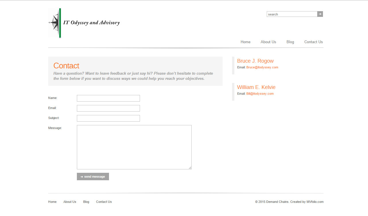 Demand Chains Contact Page